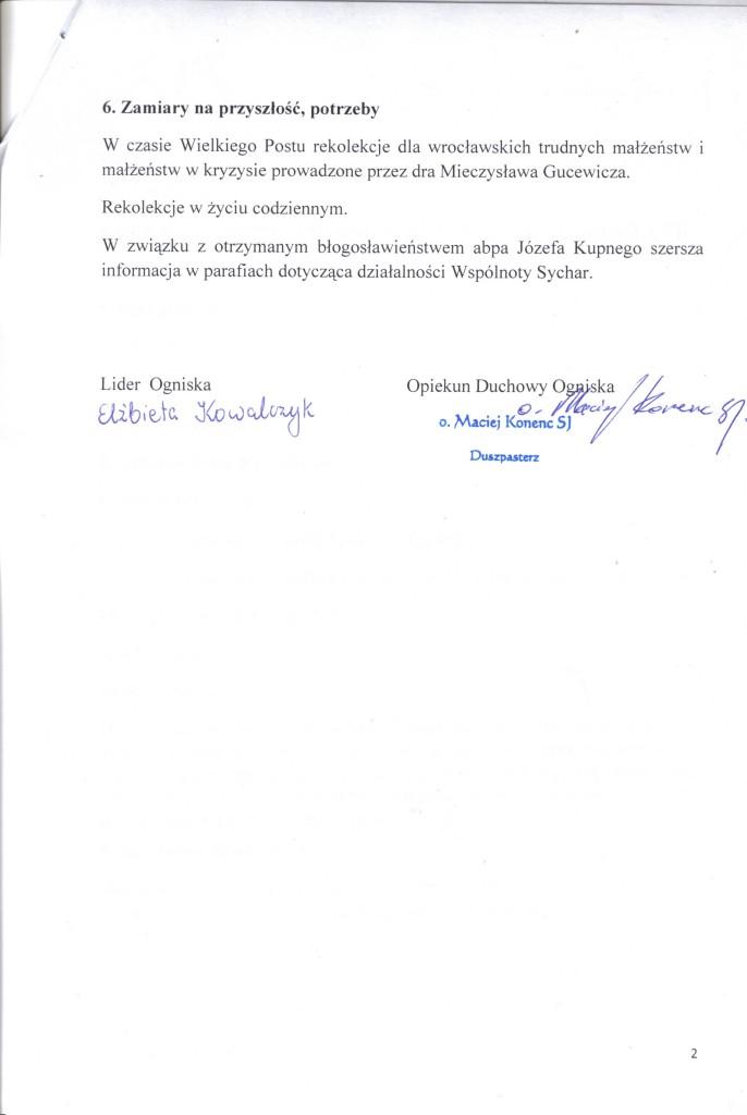 Sprawozdanie 2013 Wrocław, str.2
