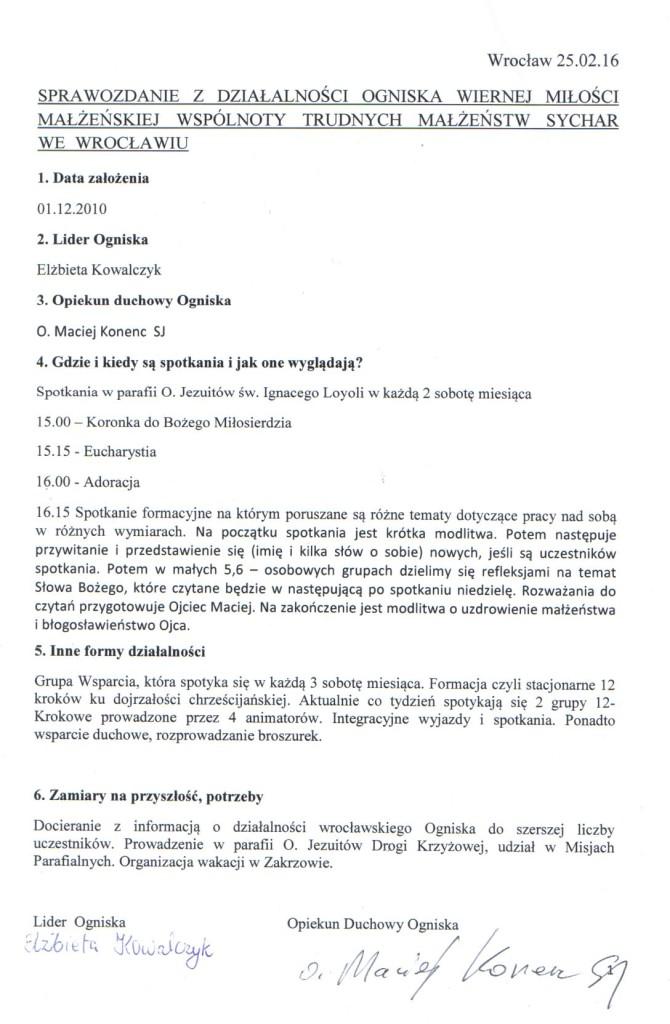 Sprawozdanie Wrocław 2015